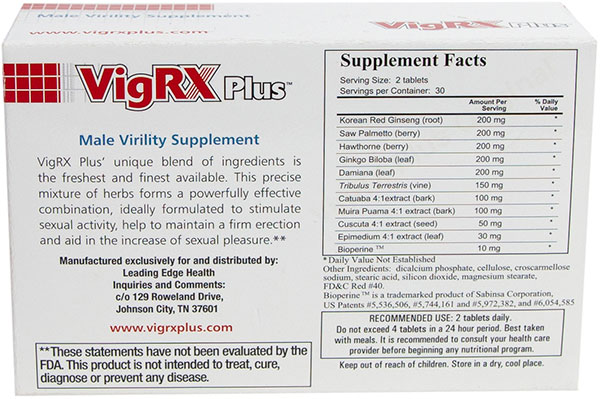 VigRXPlus-ingredients